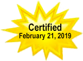 Certified February 21, 2019